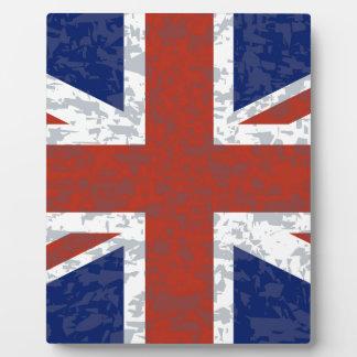 Grunge Union Jack Flag Display Plaques