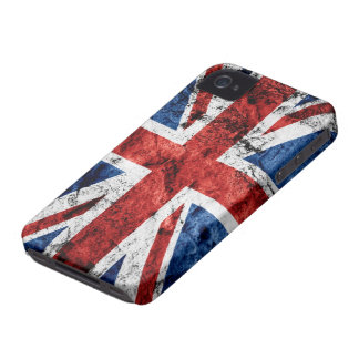 Grunge Union Jack Flag iPhone 4 Case-Mate Cases