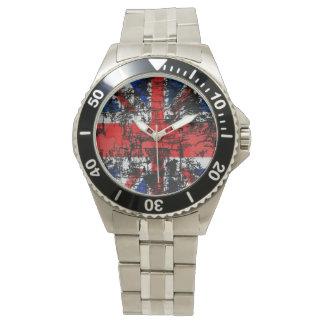 Grunge Union Jack Men's Watch