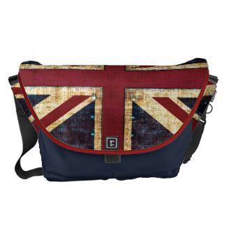Grunge Union Jack messenger bag