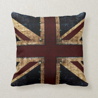 Grunge Union Jack toss pillows