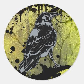 Grunge Urban Crow Sticker