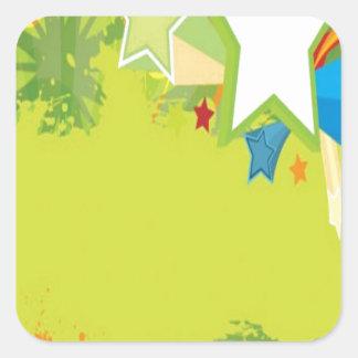 Grunge vector image design square sticker