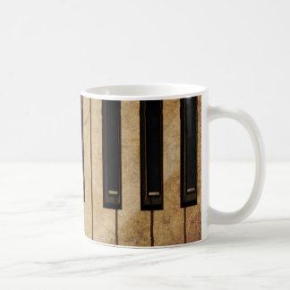Grunge vintage piano coffee mugs