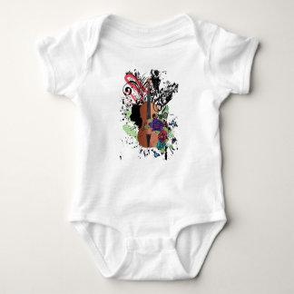 Grunge Violin Illustration2 Baby Bodysuit
