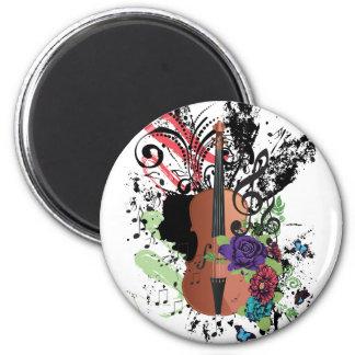 Grunge Violin Illustration2 Magnet