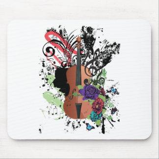 Grunge Violin Illustration2 Mouse Pad