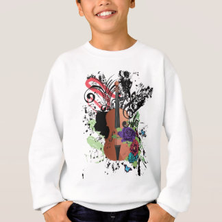 Grunge Violin Illustration2 Sweatshirt