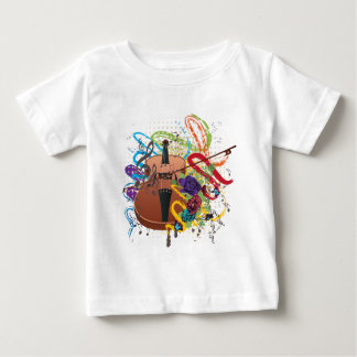 Grunge Violin Illustration Baby T-Shirt
