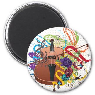 Grunge Violin Illustration Magnet