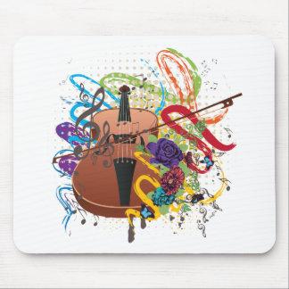 Grunge Violin Illustration Mouse Pad
