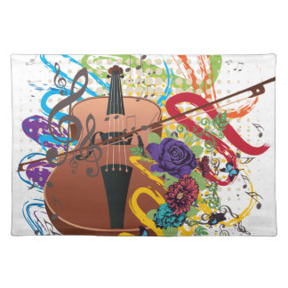 Grunge Violin Illustration Placemat