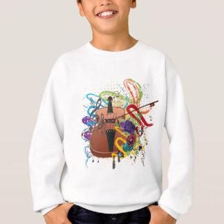 Grunge Violin Illustration Sweatshirt