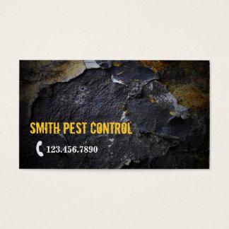 Grunge Wall Texture Pest Control Business Card