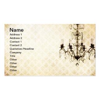 Grunge Wallpaper Chandelier 11 Business Cards