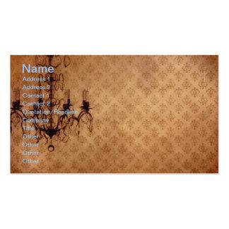 Grunge Wallpaper Chandelier 2 Business Card Template