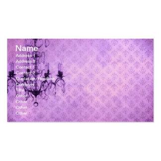 Grunge Wallpaper Chandelier 4 Business Card Template
