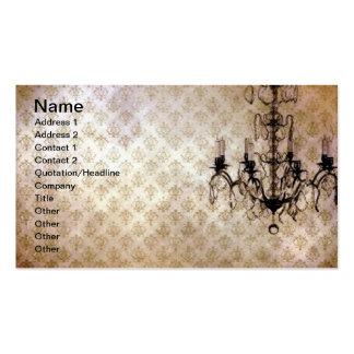 Grunge Wallpaper Chandelier 6 Business Card Templates