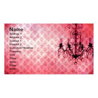 Grunge Wallpaper Chandelier 7 Business Card