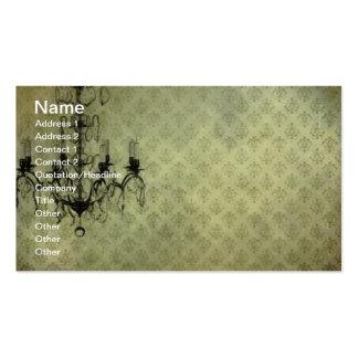 Grunge Wallpaper Chandelier Business Card Templates