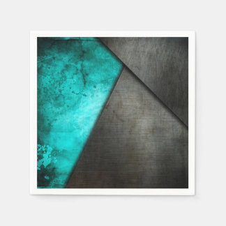 Grunge Watercolor and Metal Plate | Napkin Disposable Serviette
