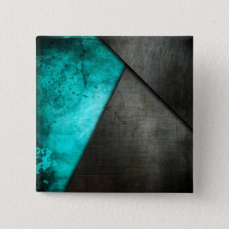 Grunge Watercolor and Metal Plate | Pin Button