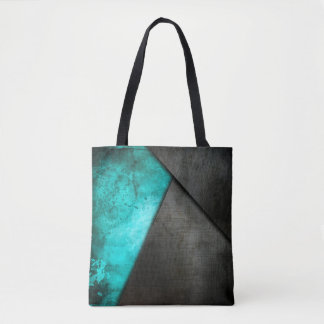 Grunge Watercolor and Metal Plate | Tote Bag
