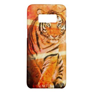grunge wild animal vintage Japanese sun ray Tiger Case-Mate Samsung Galaxy S8 Case