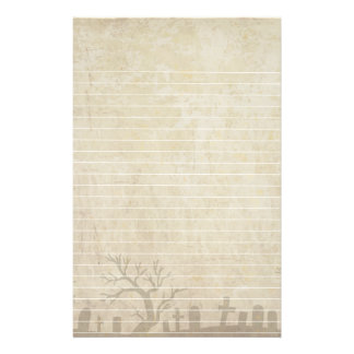 Grunge With Graveyard and Dead Trees Stationery