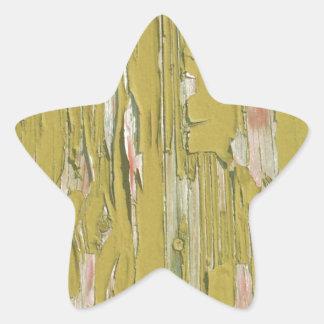 Grunge Wood Star Stickers