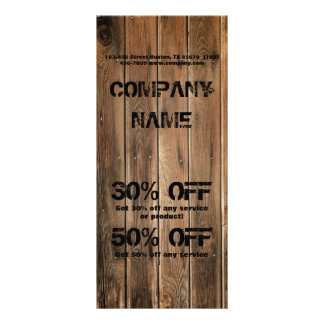 grunge wood texture Construction Carpentry Customized Rack Card