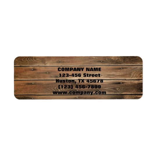 grunge wood texture Construction Carpentry Return Address Label
