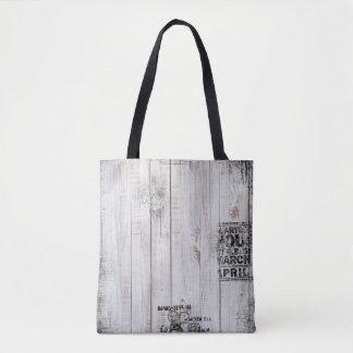 Grunge wooden Tote Bag
