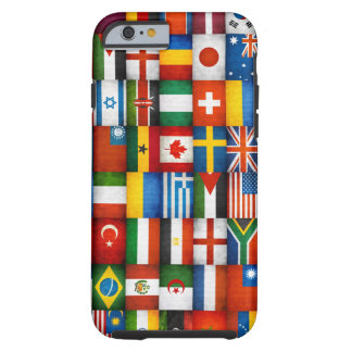 Grunge World Flags Collage Design Tough iPhone 6 Case