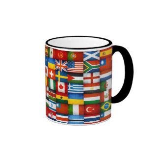 Grunge World Flags Collage Design Mug