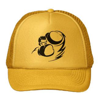 Grunge yellow Boxer Trucker Hat