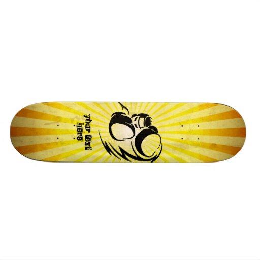 Grunge yellow Boxer Skate Decks
