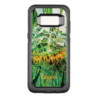 Grunge Yellow Hanging Giant Sunflower OtterBox Commuter Samsung Galaxy S8 Case