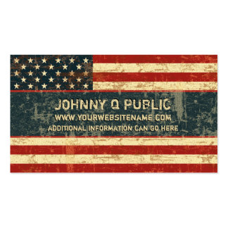 Grungy American Flag Business Cards
