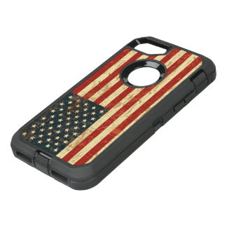 Grungy American Flag USA OtterBox Defender iPhone 7 Case