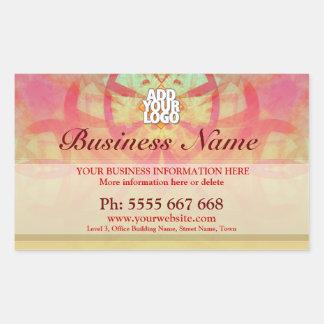 Grungy Art Abstact w/ Logo Business Stickers