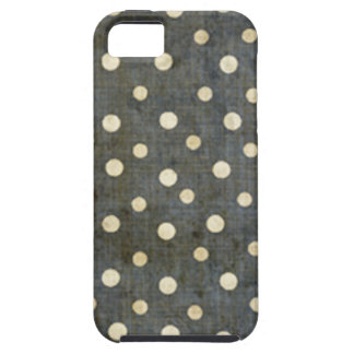 Grungy Black and White Polka Dot Pattern iPhone 5 Cases
