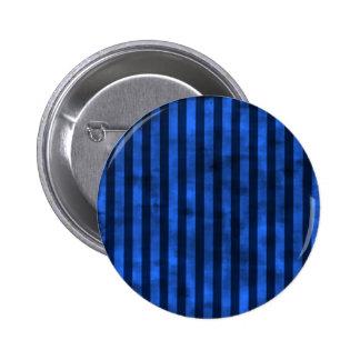 grungy blue stripes 6 cm round badge