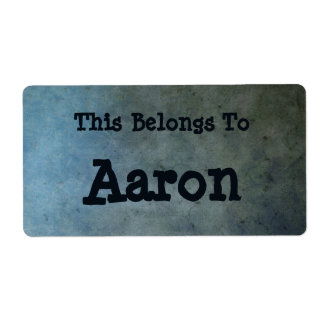 grungy Bookplate Shipping Label