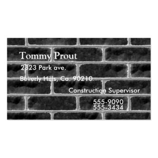 Grungy Brick Wall Double-Sided Standard Business Cards (Pack Of 100)