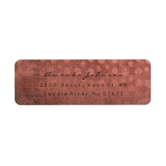 Grungy Bricks Sepia Cooper Kraft Shiny Pastel Return Address Label