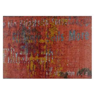 Grungy Brooklyn Urbex Graffiti Brick Wall Cutting Board
