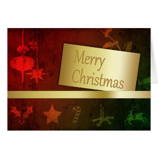 Grungy Christmas - Greeting Card