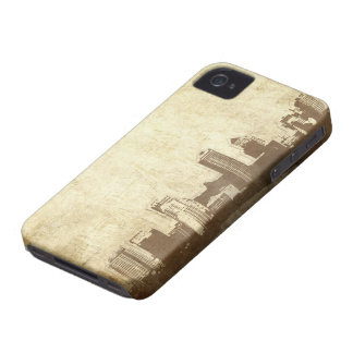 Grungy city background Case-Mate iPhone 4 cases
