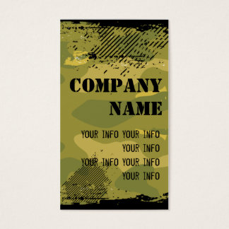 Grungy Cool Camo Business Cards